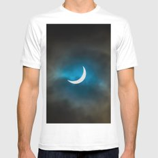 Solar Eclipse 3 Mens Fitted Tee LARGE White