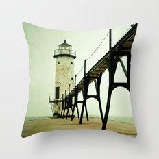 Manistee Light Throw Pillow