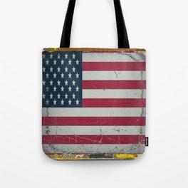 Grungy Vintage Antique American Flag Design  Tote Bag