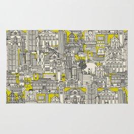 Hong Kong toile de jouy chartreuse Rug