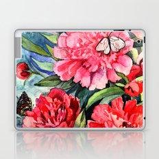 watercolor peonies Laptop & iPad Skin