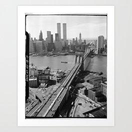 Looking NW Towards Manhattan / Twin Towers Art Print