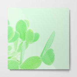 Opuntia Mint Metal Print