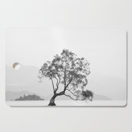 Wanaka Tree New Zealand Photograph Black And White Cutting Board