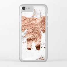 Elephant - rose gold marble Clear iPhone Case