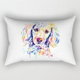 Colourful Pup Rectangular Pillow