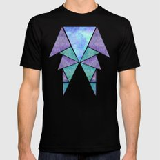 Geometric Reflection LARGE Black Mens Fitted Tee