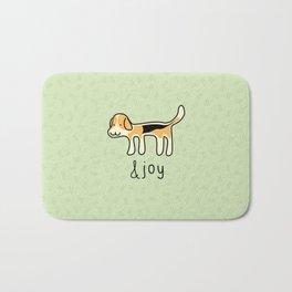 Cute Beagle Dog &joy Doodle Bath Mat