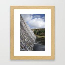 Derwent dam Framed Art Print