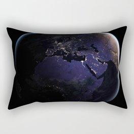 The Earth at Night 1 Rectangular Pillow