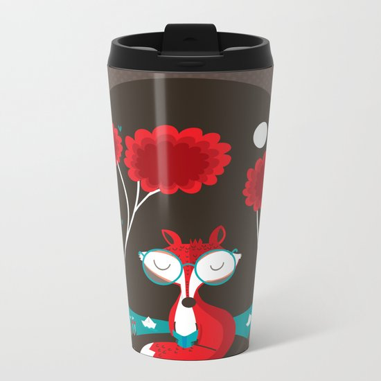 About a red fox Metal Travel Mug