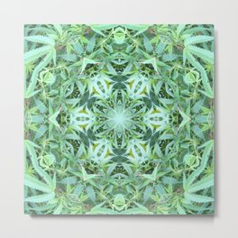 Mary Jane Mandala 2 (green) Metal Print