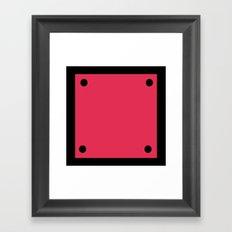 Video Game General Block Framed Art Print