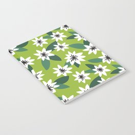 Green Floral Dreams Notebook
