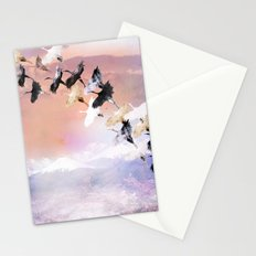 Japanese cranes Stationery Cards