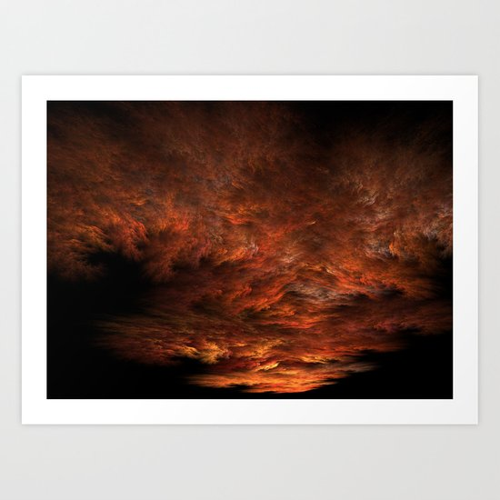 Fractal Sunset Art Print