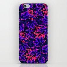 Leaves - purple/pink iPhone & iPod Skin