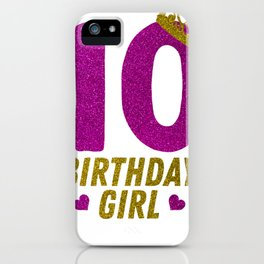 Princess 10Th Birthday Shirt For Girls 2008 10 Year Old Gift IPhone Case