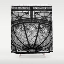 The Driskill - Black and White Shower Curtain