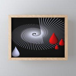 red tears -18- Framed Mini Art Print