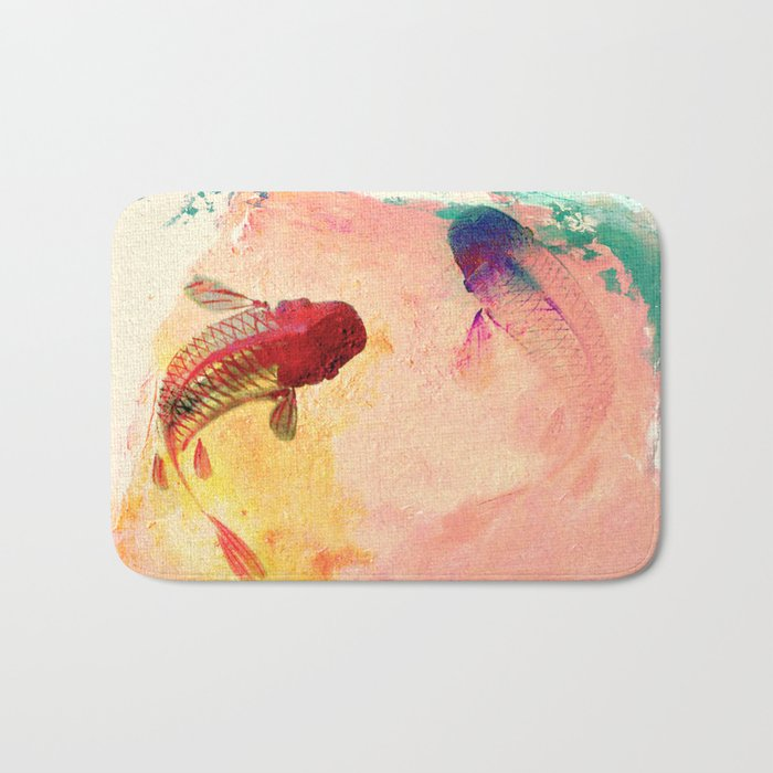 Canvas Koi Bath Mat