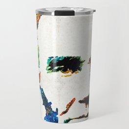 Abraham Lincoln Art - Colorful Abe - By Sharon Cummings Travel Mug