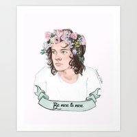 coconutwishes Art Prints featuring Be nice to nice by Coconut Wishes