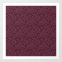 burgundy Art Prints featuring Burgundy by Lisi Fkz