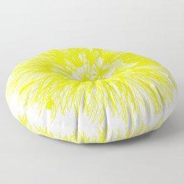 Make A Wish Dandelion Vector In Yellow Floor Pillow