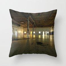 Factory Floor Throw Pillow