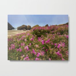 Flowers on the Beach Metal Print