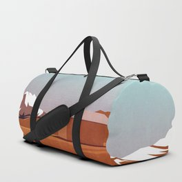 mountain landscape illustration - graphic art print Duffle Bag