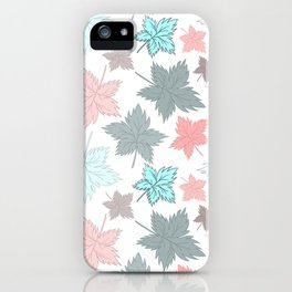 Maple Leaves - Pastel Pattern iPhone Case