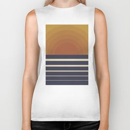 Retro Sunset Biker Tank