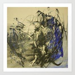 Azul y negro Art Print