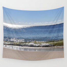 Beach just before sunset Wall Tapestry