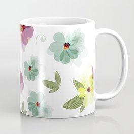 Cute soft spring pattern with flowers Coffee Mug