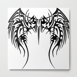 Tribal wings Metal Print