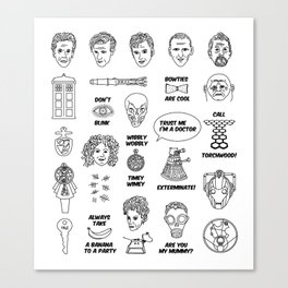 Doctor Who Collective Illustration Canvas Print