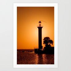 Lighthouse during sunset. Art Print