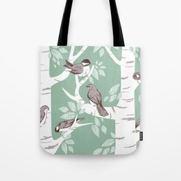 Birch Birds Tote Bag