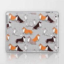 Origami Collie doggie friends Laptop & iPad Skin