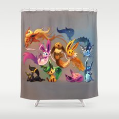 Chibi-lutions Shower Curtain