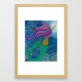 Gypsea Mermaid Ocean Art by Lauren Tannehill Art Framed Art Print