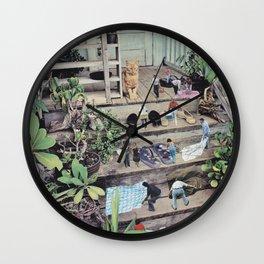 Big cat Wall Clock