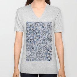 Mandalas and flowers Unisex V-Neck