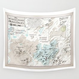 NYS Adirondack 46er Atlas Inspired area map Wall Tapestry