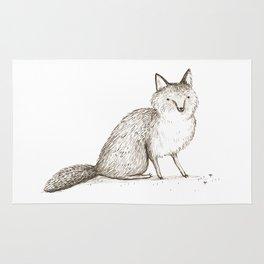 Swift Fox Sketch Rug