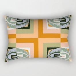 Warm Peachy Rust & Olive Retro Vintage Color Study No. 8 Rectangular Pillow