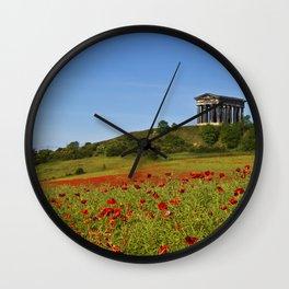 Penshaw Monument Poppys Wall Clock